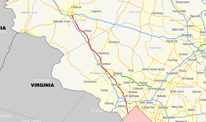 Maryland Route 355 map.png