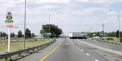 The N1 National Road passing through Ventersburg.