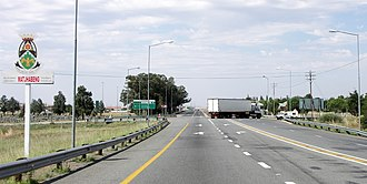 N1 road (South Africa) - The N1 southbound as it enters Ventersburg