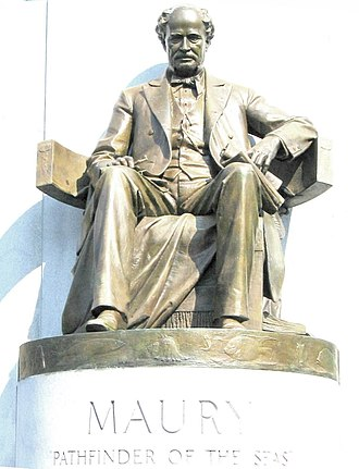 """Frederick William Sievers - Details of bottom of Maury """"Pathfinder of the Seas"""" monument."""