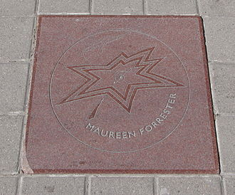 Maureen Forrester - The star dedicated to Maureen Forrester, from 2000, on the Canada's Walk of Fame, in Toronto, Ontario.