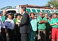Mauricio Macri felicitó a los equipos de emergencia que trabajaron en la tragedia de Once (6792570622).jpg