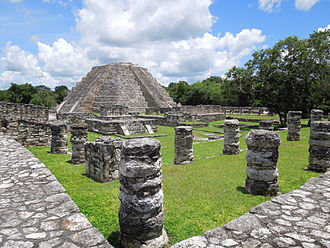 Peten Itza kingdom - The main Temple in Mayapan would have looked similar to the one in Nojpetén