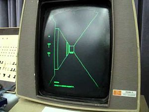 1974 in video gaming - Maze War, an ancestor of the first-person shooter genre, was ported to a number of computer systems. The above image was created from a version of the game written for the Xerox Star 8010 in 1985.