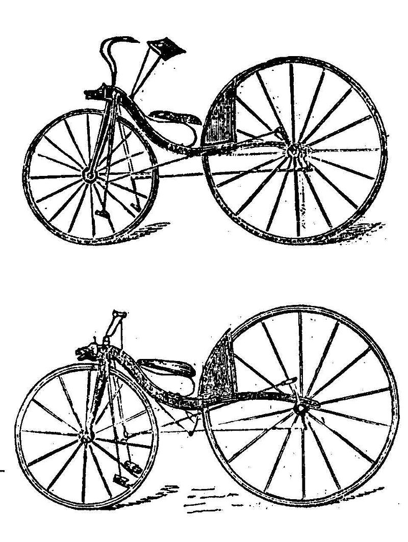 bicycle with two wheels - velocipede