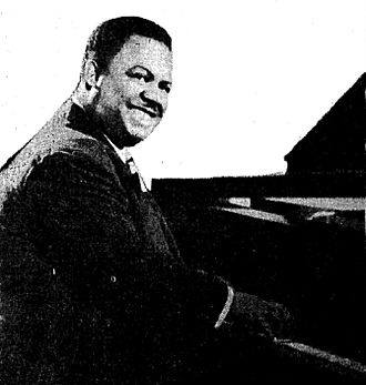Meade Lux Lewis - Lewis in a 1944 advertisement