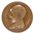 Medalj med Napoleon II som barn i profil samt text - Skoklosters slott - 99310.tif