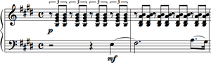 Morceaux de fantaisie - Melody is a short piece with a powerful climax