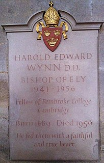 Edward Wynn Bishop of Ely