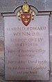 Memorial to Harold Edward Wynn in Ely Cathedral.jpg
