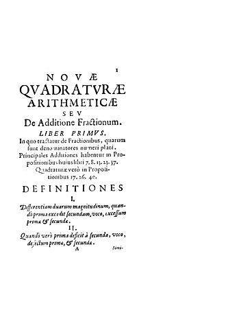 Pietro Mengoli - Novae quadraturae arithmeticae, 1650