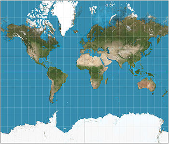 True Size Map Of The World.Mercator Projection Wikipedia