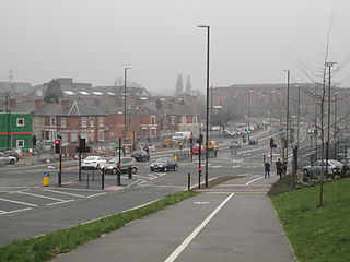 Mercian Way's Junction with Abbey Street.JPG