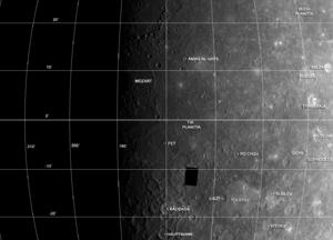 Tolstoj quadrangle - Mariner 10 photomosaic