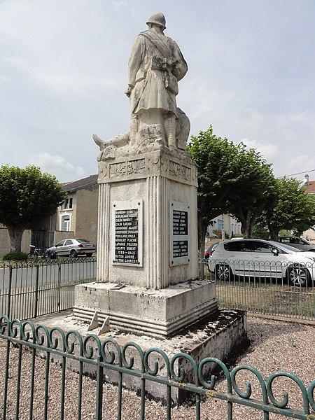 Mesnil-sous-les-Côtes (Bonzée, Meuse) monument aux morts