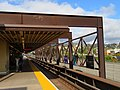 Metal canopy at Rockridge station, September 2019.JPG