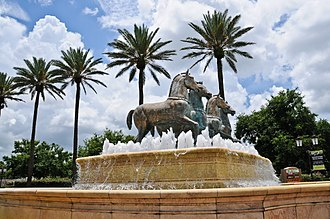 MetroWest (Orlando) - Replica of the Horses of Saint Mark in Venice, Italy at the entrance to MetroWest Village