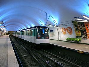 Gambetta (Paris Métro) - Image: Metro de Paris Ligne 3 Gambetta 04
