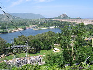 Salem district - Mettur Dam across Kaveri river in Salem district
