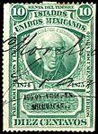 Mexico 1874-1875 documentary revenue 4A Michoacan.jpg
