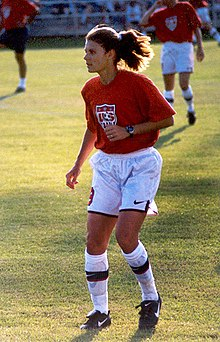 Hamm warming up before a match, 1998
