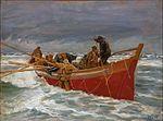 Michael Ancher - Den røde redningsbåd sejler ud.jpg