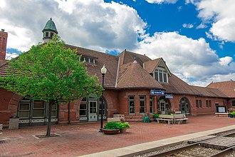 Kalamazoo Transportation Center - The 1887-built Michigan Central Railroad depot in 2014