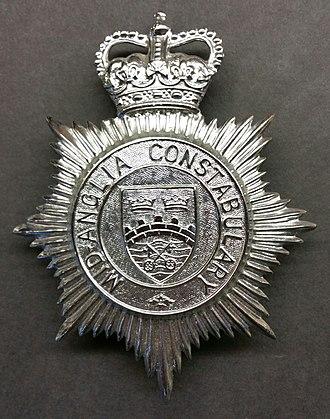 Mid-Anglia Constabulary - Image: Mid Anglia Helmet Badge