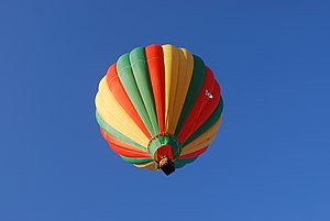 A hot air balloon in flight at the Mid-Hudson ...