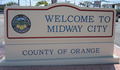 Midway City CA welcome sign 2012.PNG