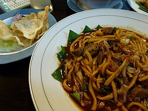 Mie aceh - Image: Mie Aceh with beef