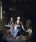 Mieris, Willem van - Interior with a Mother Attending her Children - 1728.jpg