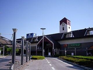 railway station in Anjō, Aichi prefecture, Japan
