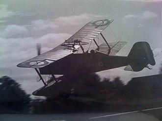 Von Richthofen and Brown - Miles-built S.E.5 replica flown by Charles Boddington, five seconds before fatal crash on 15 September 1970