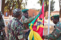 Military personnel and delegates from more than 40 nations gather at the Zambia Army Headquarters in Lusaka, Zambia, Aug. 7, 2013, for the opening ceremony of the Africa Endeavor (AE) 2013 exercise 130807-Z-VX744-018.jpg