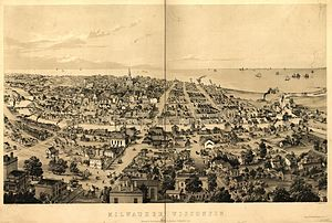 History of Milwaukee - Milwaukee in 1858