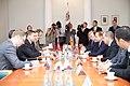 Ministru prezidents Valdis Dombrovskis tiekas ar Armēnijas parlamenta spīkeru Oviku Abraamjanu (Hovik Abrahamyan) (8956746878).jpg