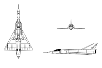 Aircraft recognition - Recognition line drawing for Dassault Mirage III.