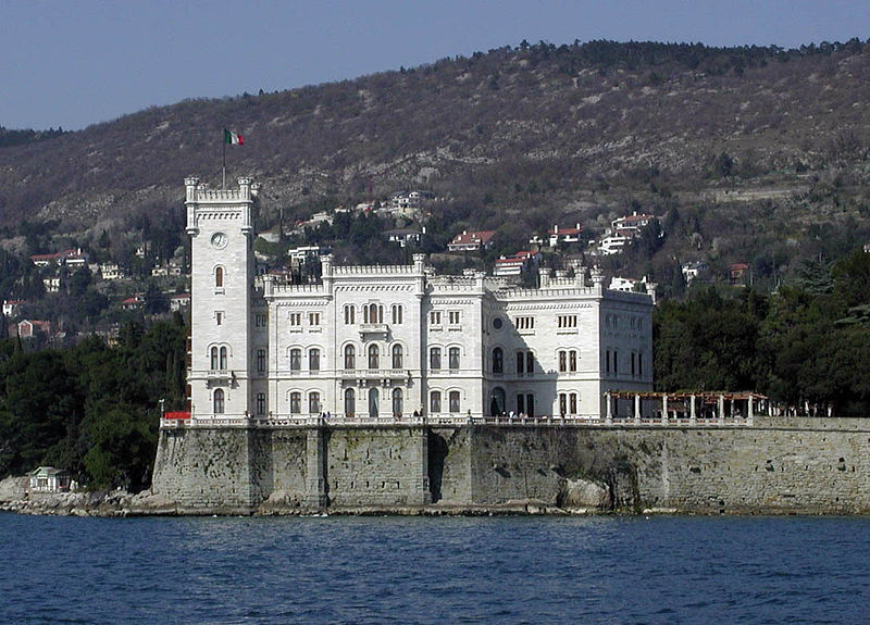 Miramare castle in Trieste - Italy