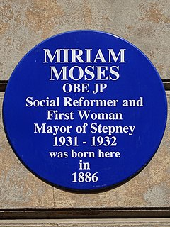 Miriam Moses Moses, Miriam (1884–1965), local politician