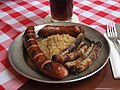 Mixed sausages at Bratwurst Glöckl.jpg