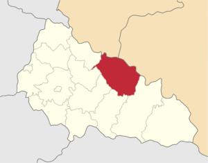 Межгорский район на карте