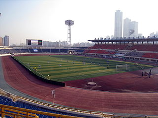 Mokdong Stadium sports complex located in Yangcheon-gu, Seoul, South Korea