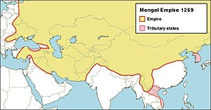 Mongol invasions of Tibet - The Mongol Empire in 1259