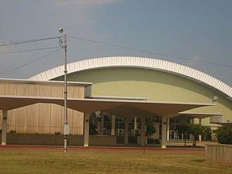 Monroe, Louisiana - Monroe Convention Hall across from City Hall; designed by Hugh G. Parker, Jr., of Bastrop, Louisiana