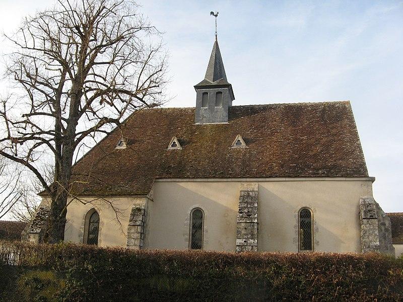 Montacher-Villegardin, ancienne église de Villegardin vue du côté sud