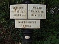 Montgomery Canal 19 mile milepost - geograph.org.uk - 582015.jpg