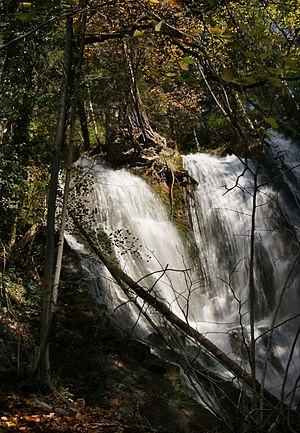 Thüringen, Austria - Image: Montjola Wasserfall 2