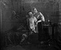 Moritz Unna - En vildttyv og hans datter forskrækkes af skovvogterne ved nat - KMS289 - Statens Museum for Kunst.jpg