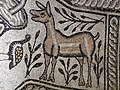 Mosaic floor decorated with a deer in the baptistery of the Episcopal Basilica, Stobi (7359168802).jpg